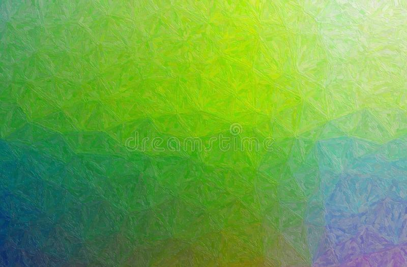 Abstract illustration of green, blue and purple Impasto with small brush strokes background. royalty free stock images