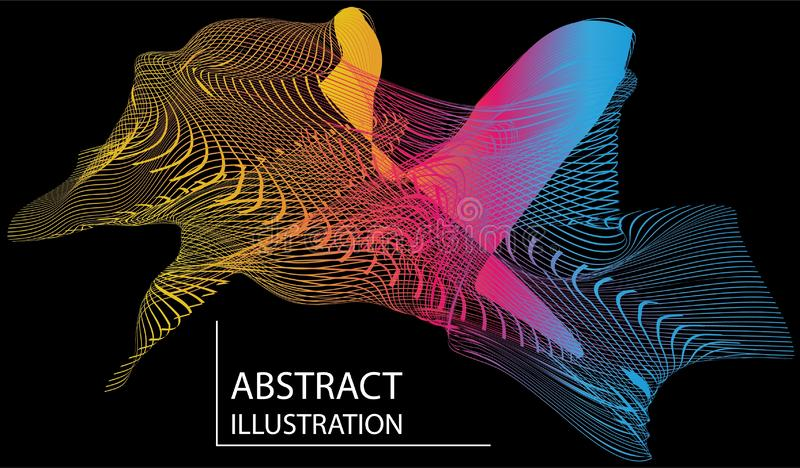 Abstract spot of colorful illustration vector illustration