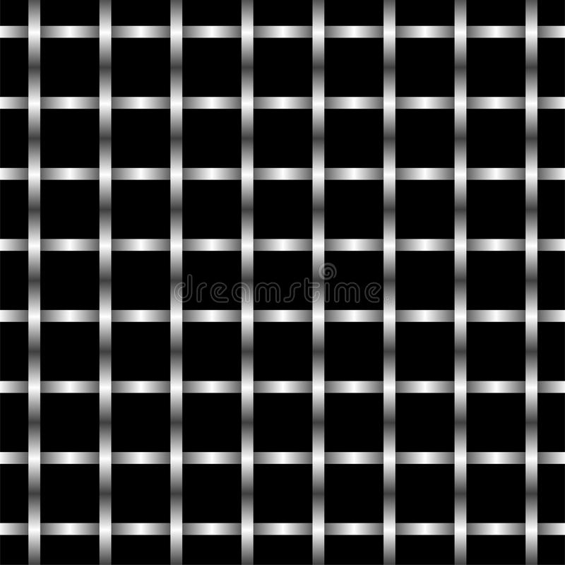 Abstract Illustration Of Metal Grid Wall Pattern Royalty Free Stock Photos
