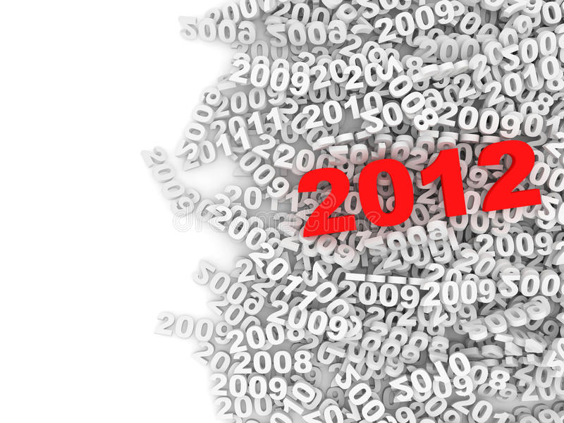 Abstract Illustration of New Year 2012 vector illustration