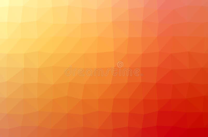Abstract illustration of orange horizontal low poly background. Abstract illustration of orange horizontal low poly background vector illustration