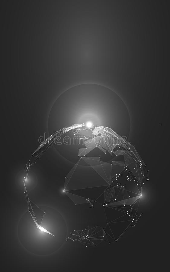 Abstract Illustration of Planet Earth in Space stock illustration