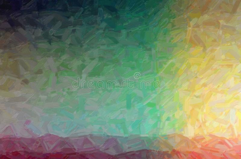 Abstract illustration of purple, yellow, green and black Abstract Oil Painting background. Abstract illustration of purple, yellow, green and black Abstract Oil royalty free illustration