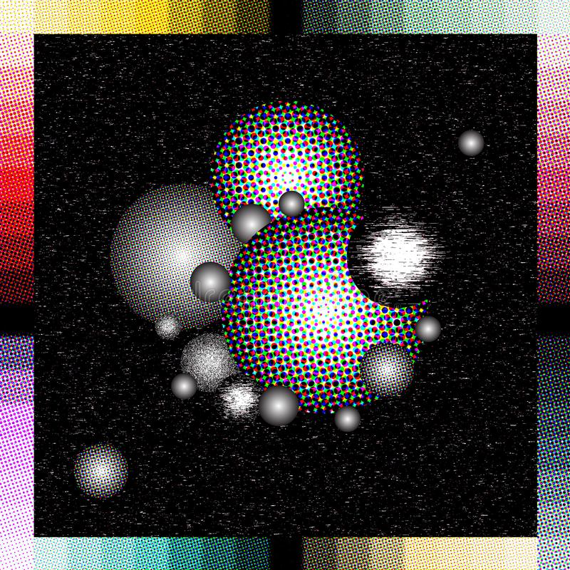Abstract illustration that recalls the space. colors and effects stock illustration