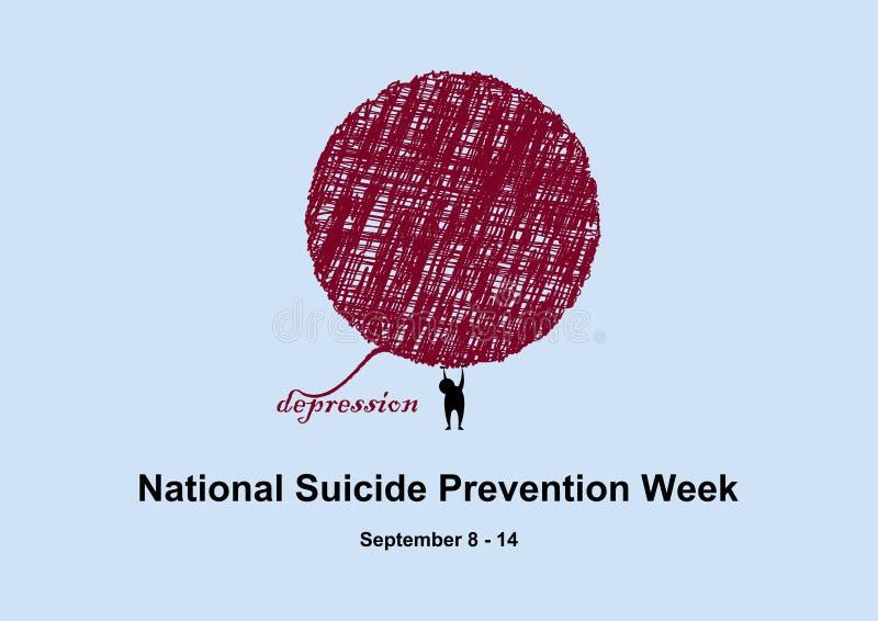 National Suicide Prevention Week vector stock illustration
