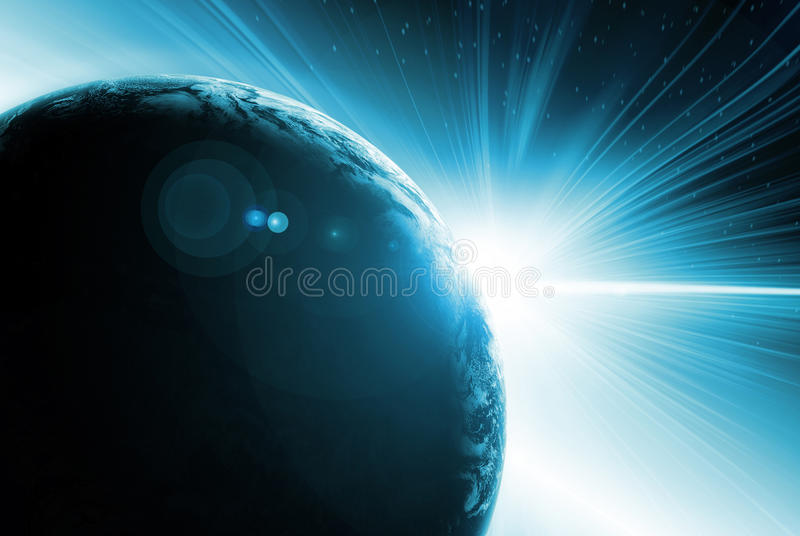 Abstract illustration of Solar eclipse stock illustration