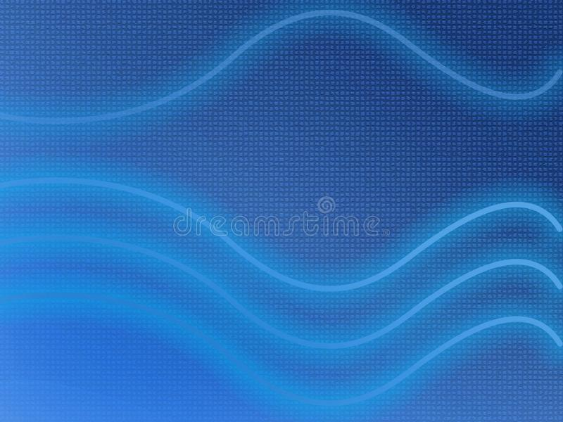 Abstract Illustration of electric blue wavy lines on a textured background. Abstract Illustration of three electric blue wavy lines to the base and one above on vector illustration
