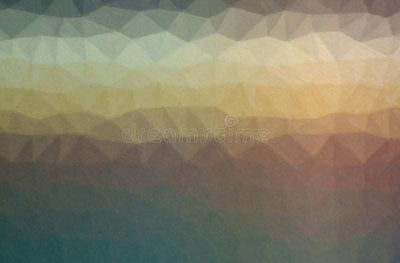 Abstract illustration of yellow, brown, blue and grey Impasto with soft brush background. vector illustration