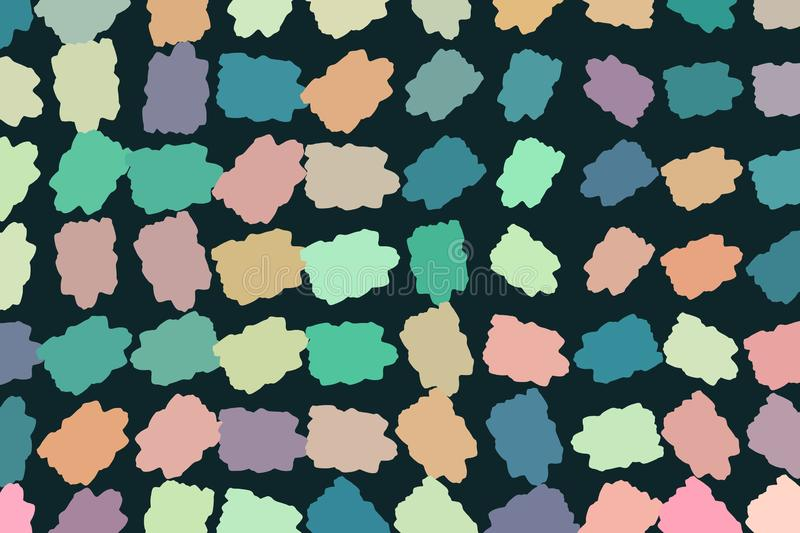 Abstract illustrations of colorful paints, conceptual. Wallpaper, cover, style & pattern. stock illustration