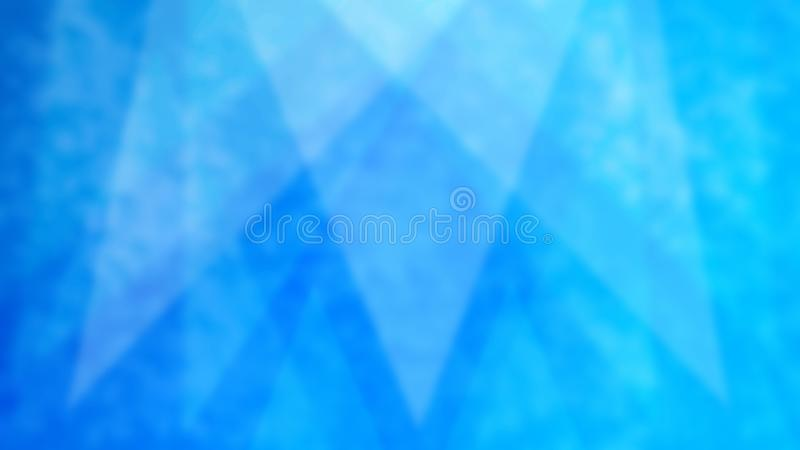 Abstract Blurred Triangles in Blue Grunge Background. Abstract image of blurry triangles in blue grungy background for web background, banner, backdrop royalty free stock image