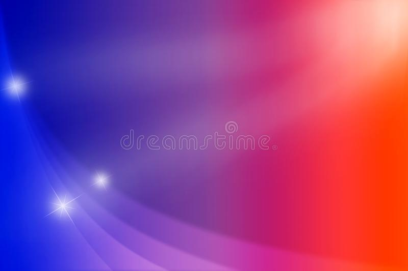 Abstract Glowing Sparkles and Curves in Blue, Red, Pink and Purple Background royalty free stock photo