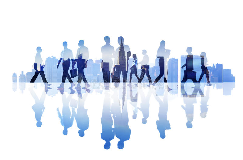 Abstract Image of Business People's Busy Life.  stock image