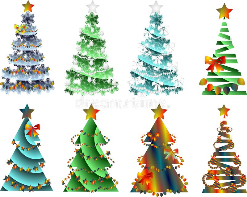 Abstract image,Christmas tree with decorations royalty free illustration