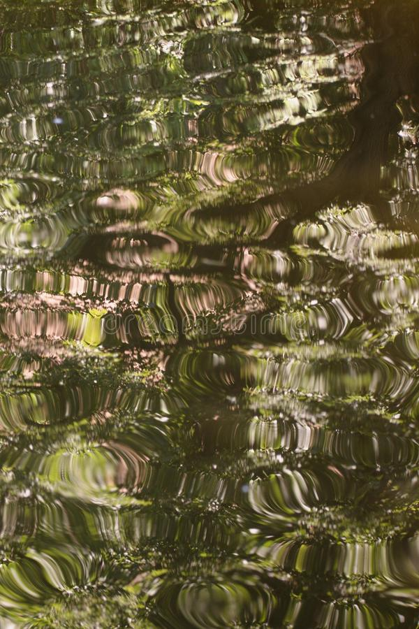 Abstract image of a cracked water surface IV. royalty free stock image