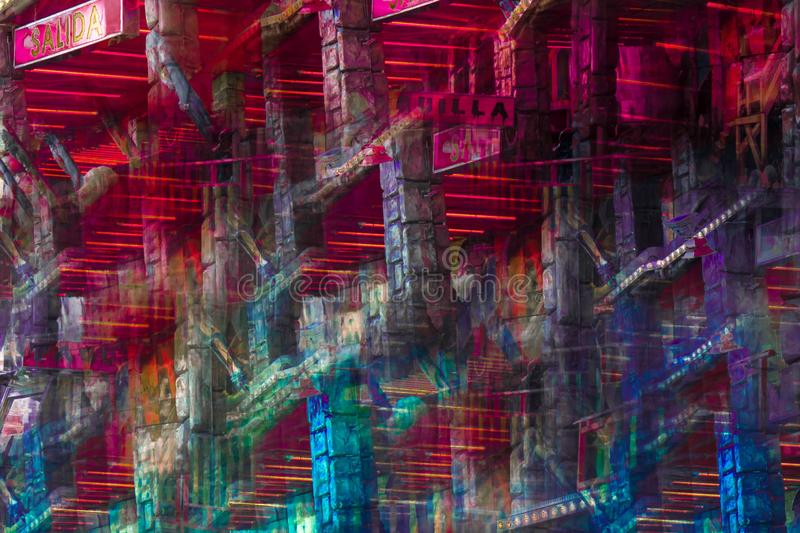 Abstract image of a fairground attraction royalty free illustration
