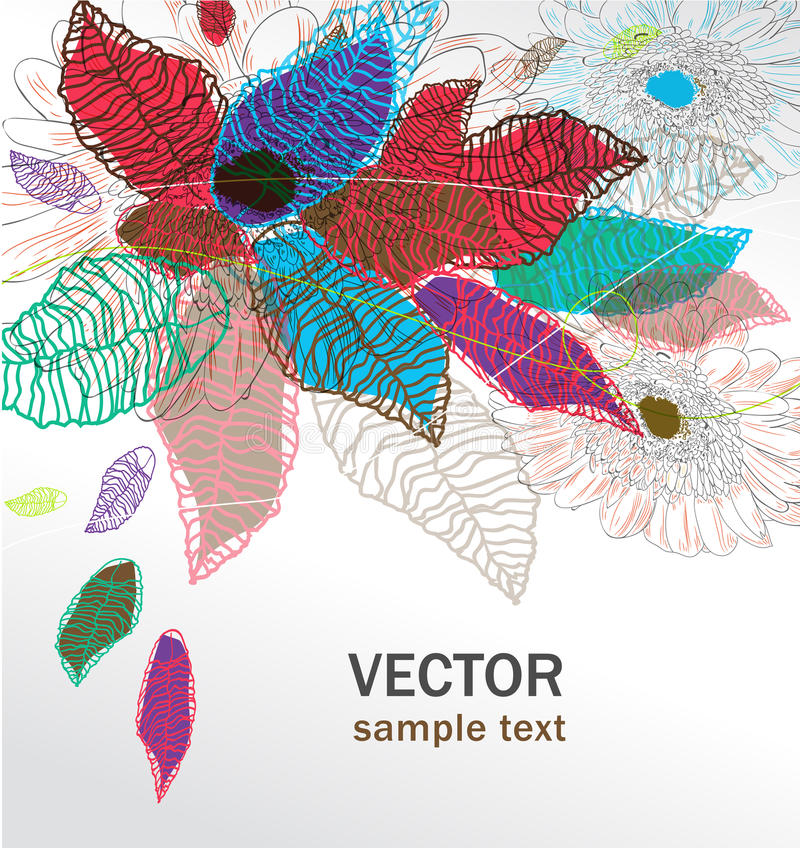 Abstract image with flowers stock illustration