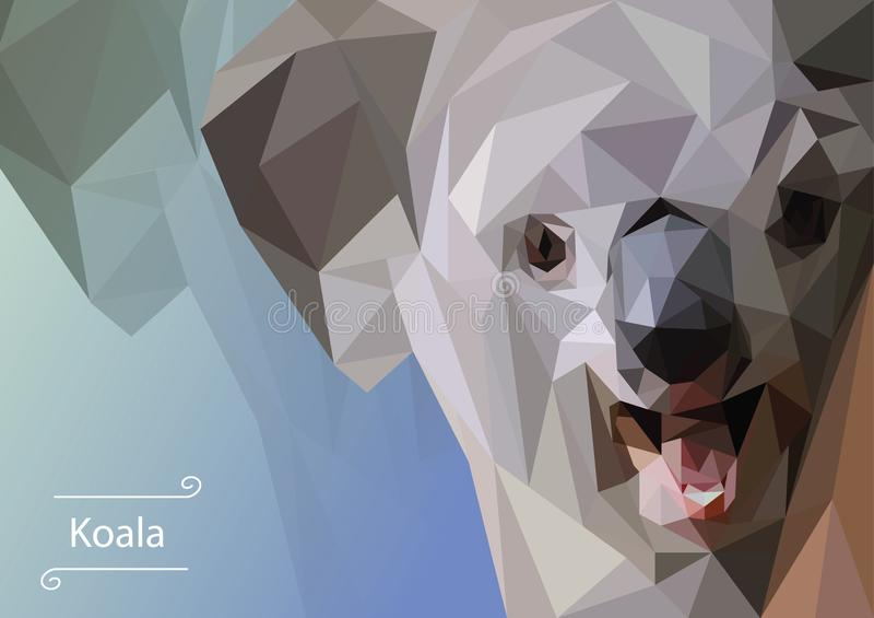Abstract image of Koala.  illustration. stock photos
