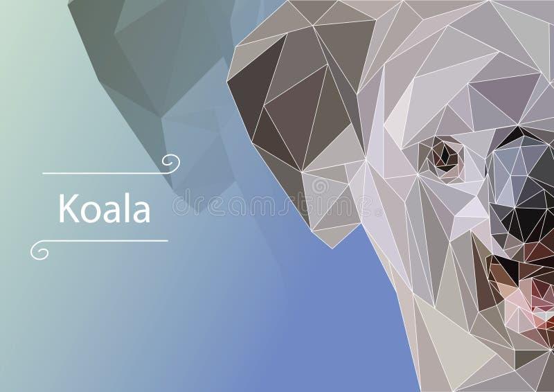 Abstract image of Koala.  illustration. royalty free stock photo