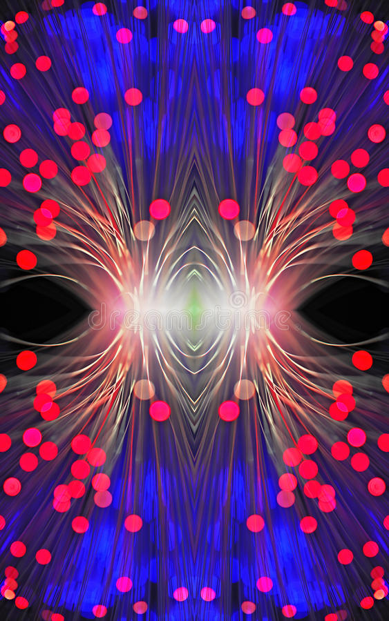 Abstract image with optical fiber stock image