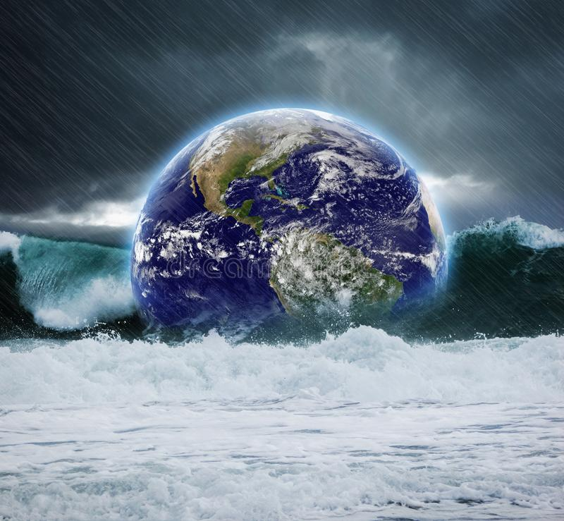 Download Earth under water stock image. Image of armageddon, disasters - 112339135