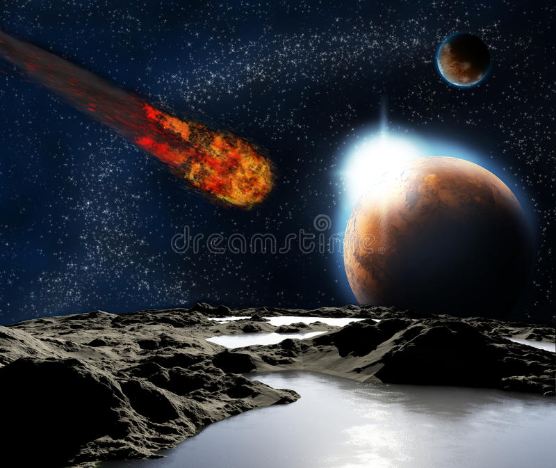 Download Abstract Image Of A Planet With Water. Stock Illustration - Image: 22479852