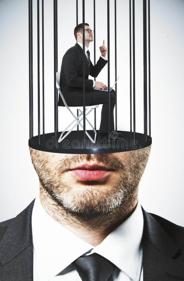 Prison headed executive royalty free stock photos