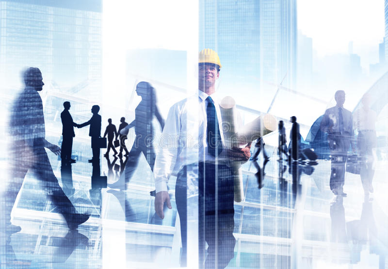 Abstract Image of Professional Busy People stock images