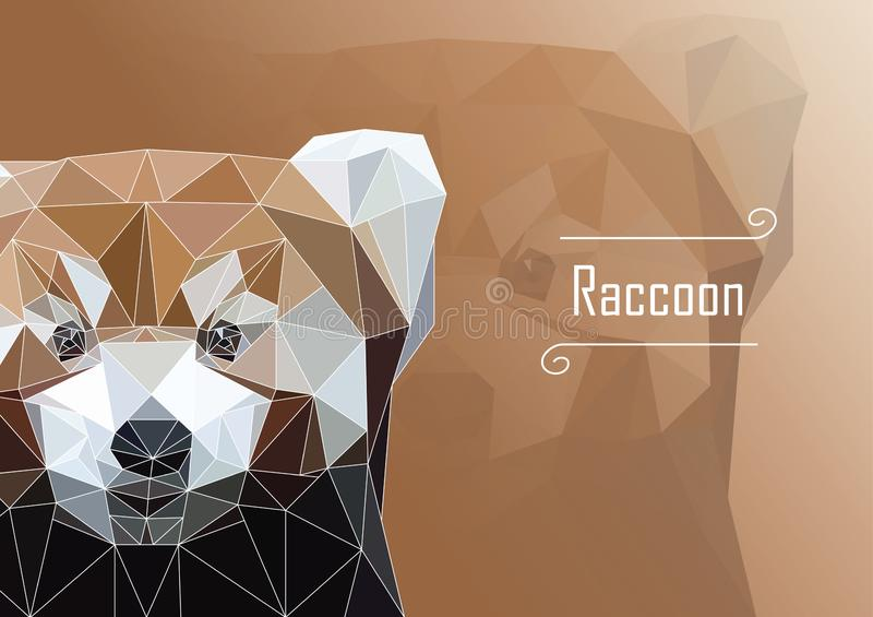 Abstract image of Raccoon. illustration. stock image