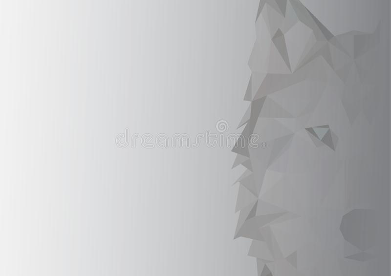 Abstract image of Siberian husky. illustration. royalty free stock images