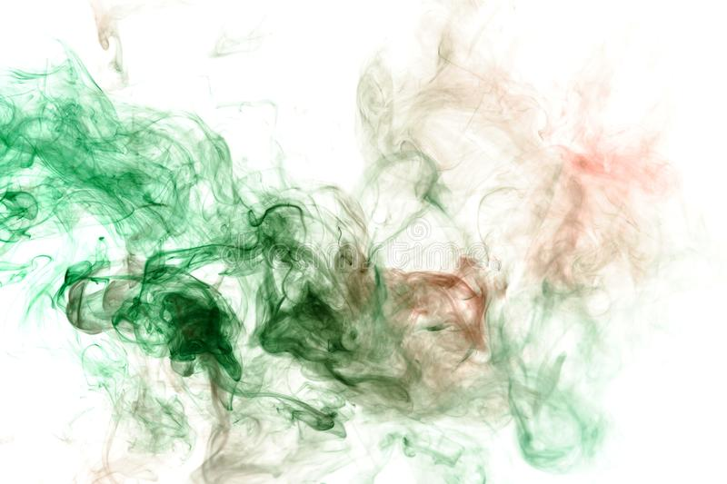 Image of the soul, a spot of wavy smoke of red and green. Print for clothes. Disease and viruses. Abstract image of the soul, a spot of wavy smoke of red and royalty free stock photos