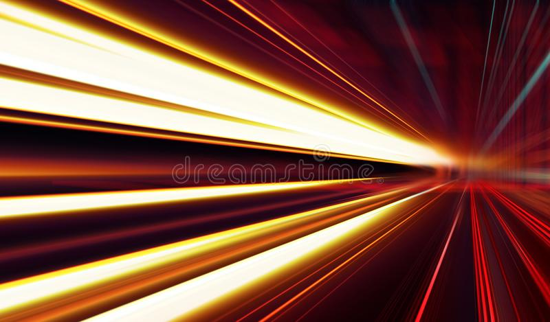 Speed motion on the road vector illustration