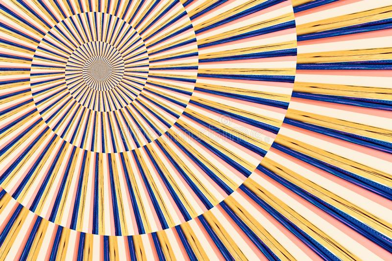 Abstract image of spiral form of monocentric type. Abstract image of big color spiral form of monocentric type stock photography