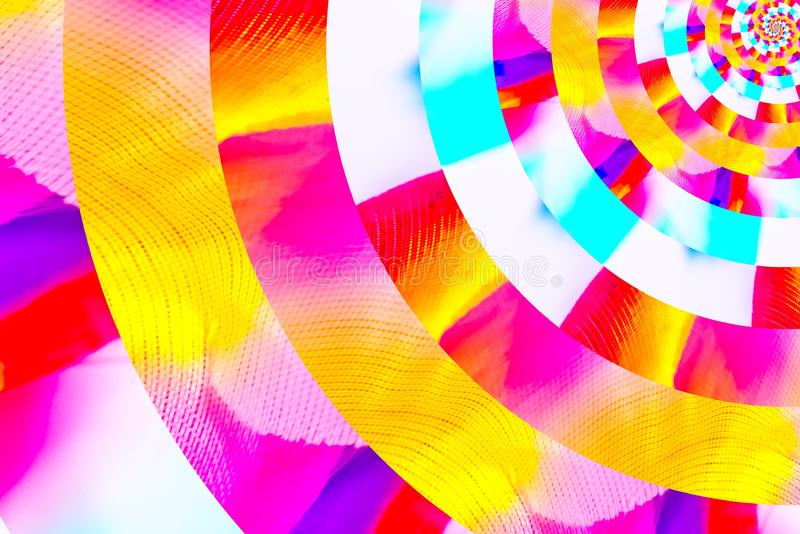 Abstract image of spiral form of monocentric type. Abstract image of big color spiral form of monocentric type stock image