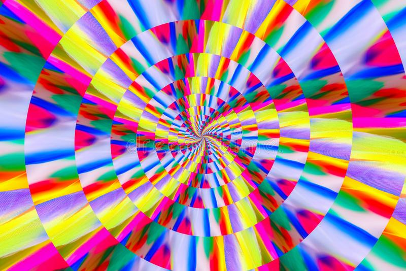 Abstract image of spiral form of monocentric type. Abstract image of big color spiral form of monocentric type royalty free stock photos