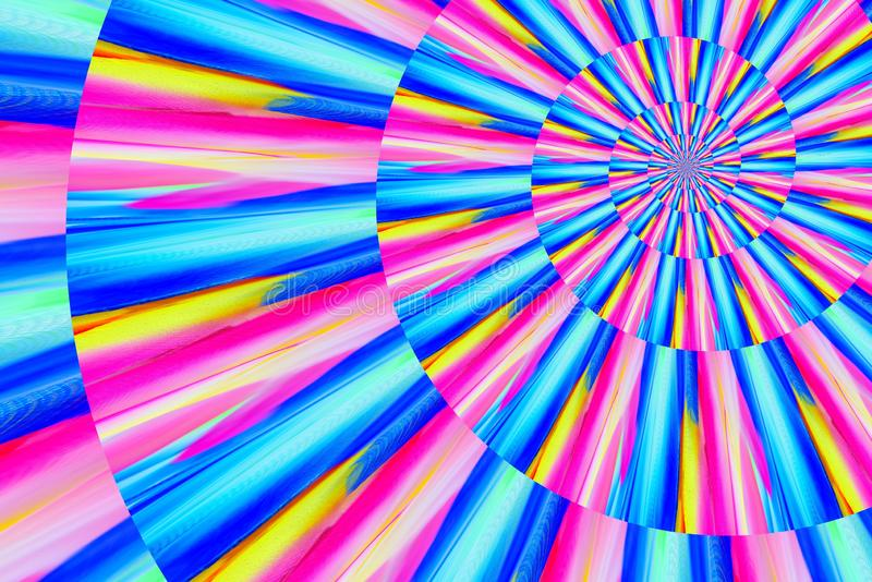 Abstract image of spiral form of monocentric type. Abstract image of big color spiral form of monocentric type vector illustration