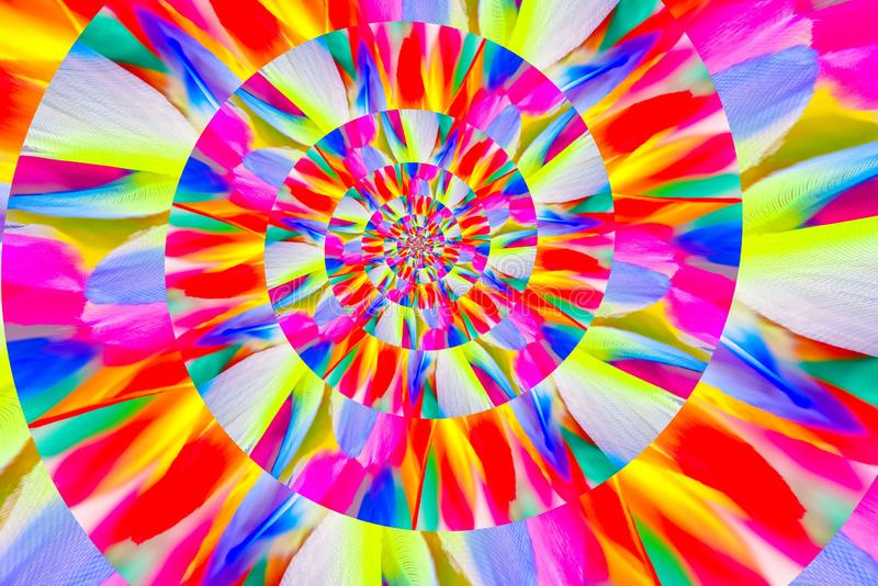 Abstract image of spiral form of monocentric type. Abstract image of big color spiral form of monocentric type stock photos