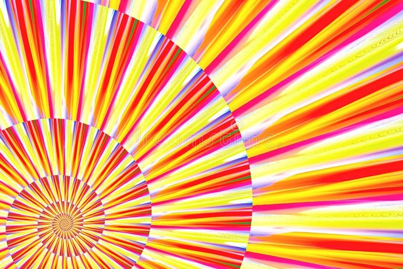 Abstract image of spiral form of monocentric type. Abstract image of big color spiral form of monocentric type stock photo