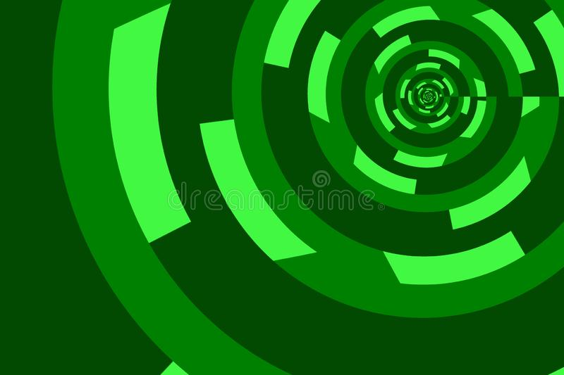 Abstract image of spiral form of monocentric type. Abstract image of big color spiral form of monocentric type royalty free illustration