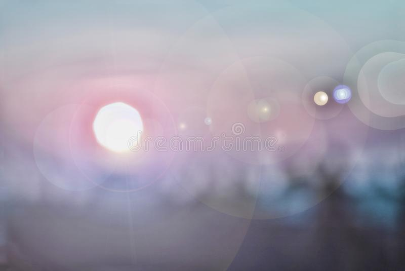 Abstract image of the Sunrise. Blur, blurred. royalty free stock photography
