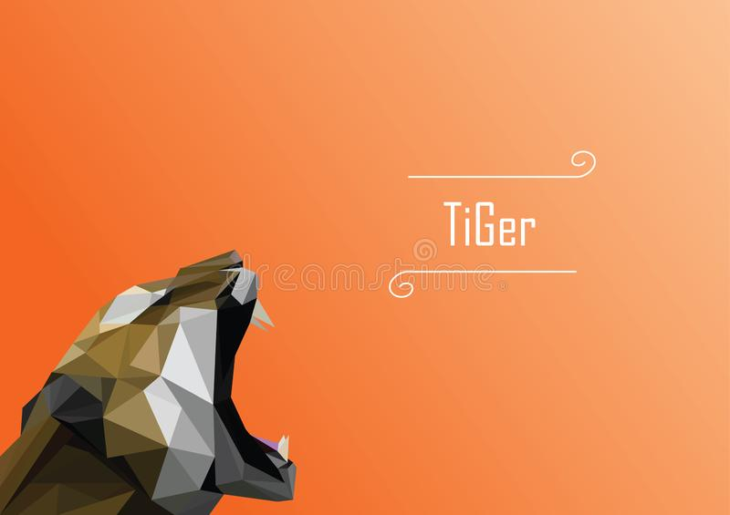 Abstract image of tiger. illustration. royalty free stock image