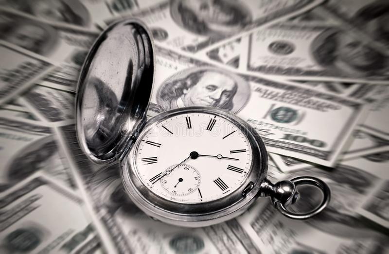 Abstract image , Time is money.  royalty free stock photos
