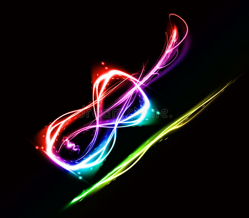 Abstract image of a violin. On black background royalty free illustration