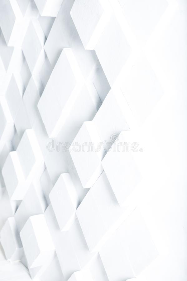 Abstract image of white cubes background stock illustration