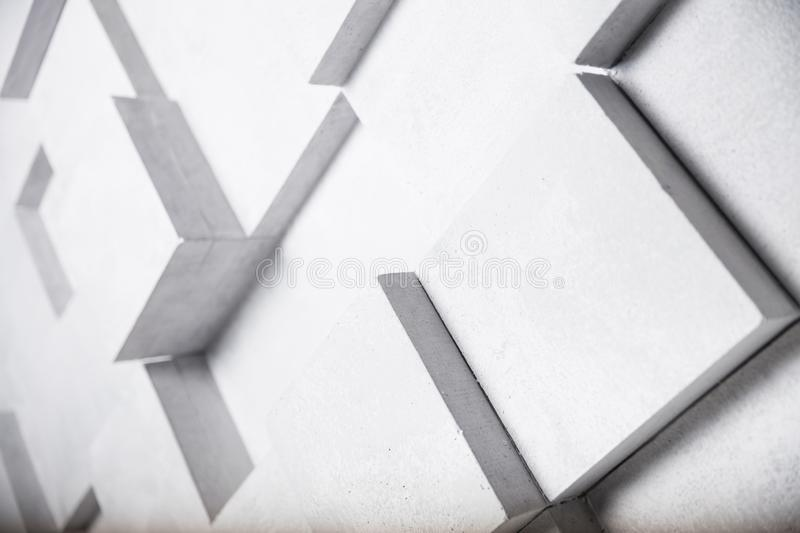 Abstract image of white cubes background royalty free illustration