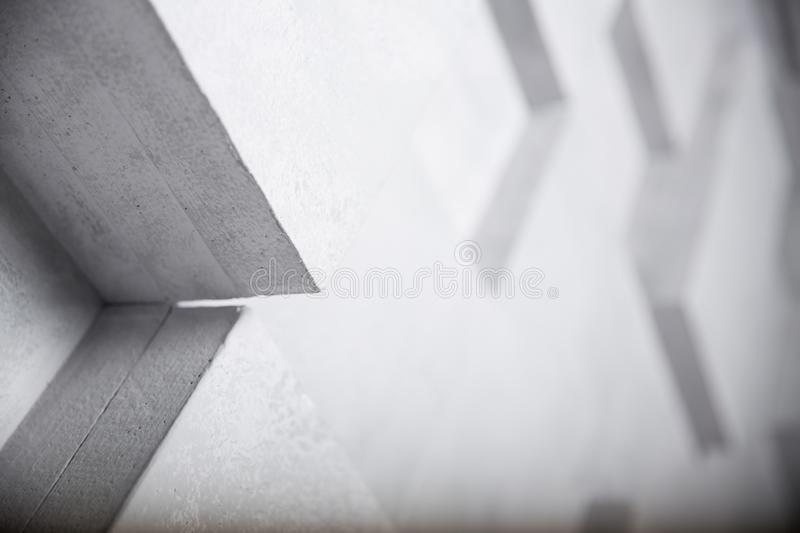 Abstract image of white cubes background, selective focus.  royalty free illustration