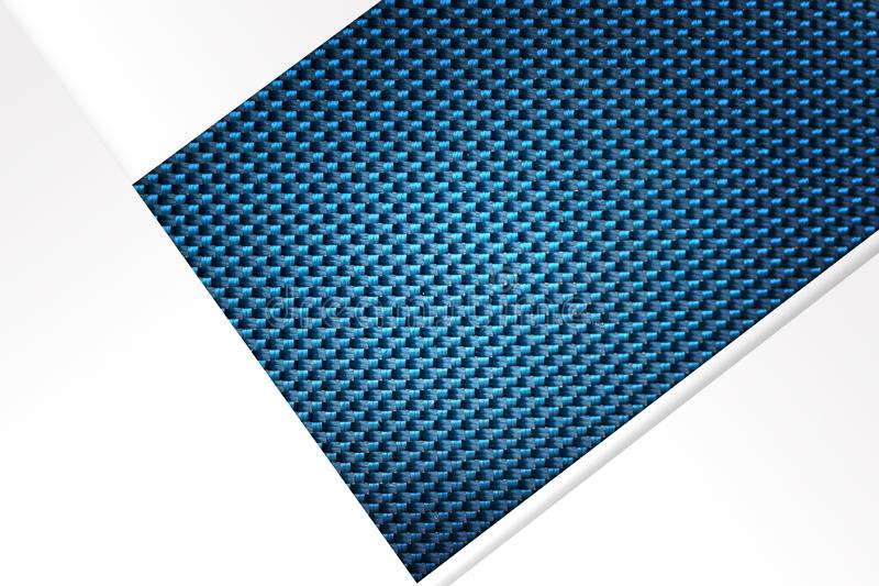 Abstract White Papers on Shiny Blue Texture Background stock photography
