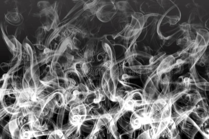 Abstract White Smoke in Black Background vector illustration