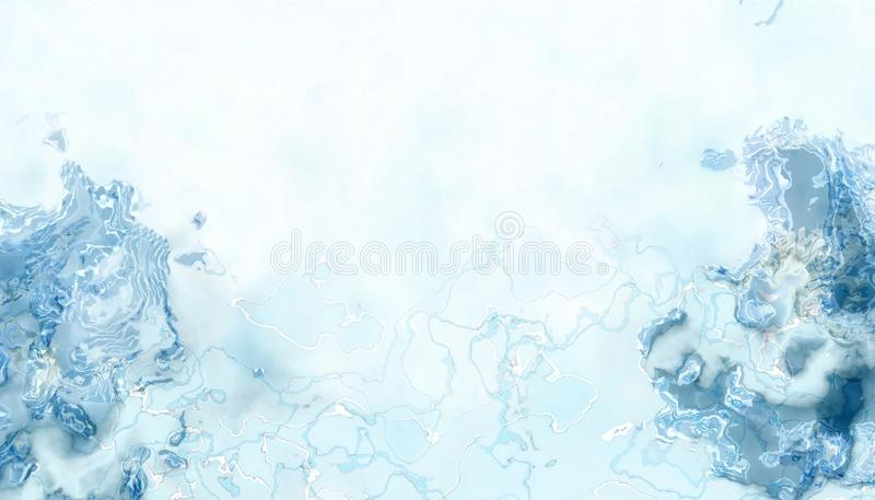 Abstract images of blue droplets are beautifully presented in an exotic. And interesting way on a blue background vector illustration