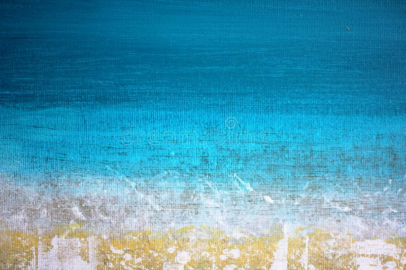 Abstract Impressionist Background hand painted Art. Abstract Impressionist Background Seascape Ocean Seaside Art hand painted painting vector illustration