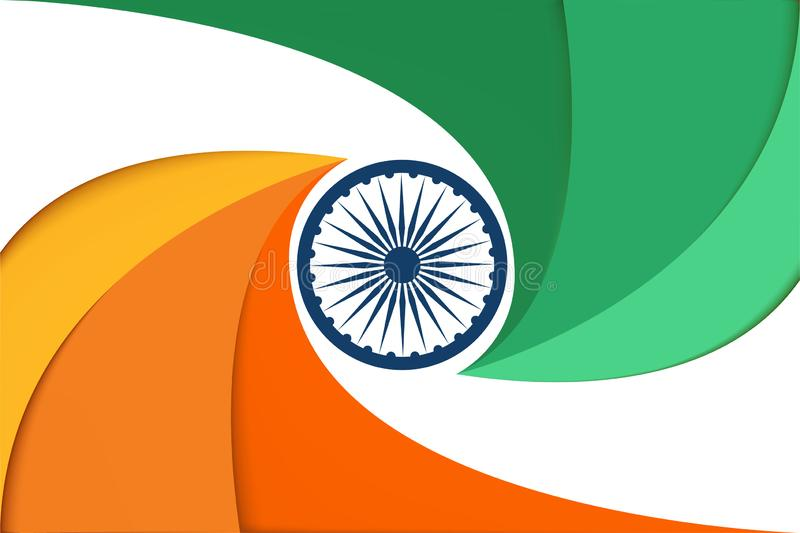 Abstract India Flag background vector royalty free stock photos